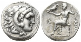 Kings of Macedon. Sardeis. Philip III Arrhidaeus 323-317 BC.  In the name and types of Alexander III. . Drachm AR