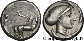 SICILY - SYRACUSE Type : Tétradrachme  Date : c. 425-420 AC.  Mint name / Town : Syracuse  Metal : silver  Diameter : 24,5  mm Orientation dies : 9  h...
