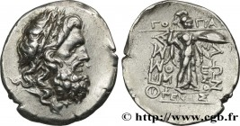 THESSALY - THESSALIAN LEAGUE Type : Drachme ou double victoriat  Date : c. 150 AC.  Mint name / Town : Larissa  Metal : silver  Diameter : 24  mm Orie...