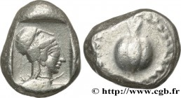 PAMPHYLIA - SIDE Type : Statère  Date : c. 460-430 AC  Mint name / Town : Sidé, Pamphylie  Metal : silver  Diameter : 20,5  mm Orientation dies : 3  h...