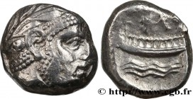 PHOENICIA - ARADOS Type : Statère  Date : an 13 = 338/7 AC  Mint name / Town : Arados, Phénicie  Metal : silver  Diameter : 19  mm Orientation dies : ...