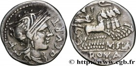 CURTIA Type : Denier  Date : 116-115 AC.  Mint name / Town : Rome  Metal : silver  Millesimal fineness : 950  ‰ Diameter : 19  mm Orientation dies : 1...