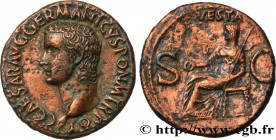 CALIGULA Type : As  Date : 37-38  Mint name / Town : Rome  Metal : copper  Diameter : 28,5  mm Orientation dies : 7  h. Weight : 10,62  g. Obverse leg...