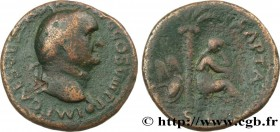 VESPASIAN Type : As  Date : 77-78  Mint name / Town : Lyon  Metal : copper  Diameter : 27  mm Orientation dies : 6  h. Weight : 9,90  g. Rarity : R3  ...