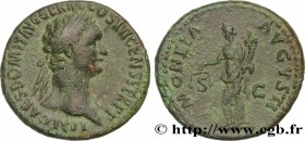 DOMITIANUS Type : As  Date : 92 - 94  Mint name / Town : Rome  Metal : copper  Diameter : 26,50  mm Orientation dies : 6  h. Weight : 10,99  g. Obvers...