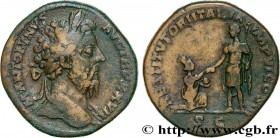 MARCUS AURELIUS Type : Sesterce  Date : 173  Mint name / Town : Rome  Metal : copper  Diameter : 30  mm Orientation dies : 12  h. Weight : 25,33  g. R...