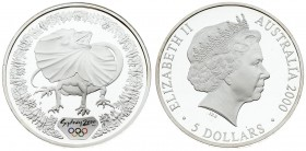 Australia 5 Dollars 2000 Averse: 4th portrait of Queen Elizabeth II facing right wearing the Girls of Great Britain and Ireland Tiara. Reverse: Frill-...