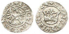 Austria Hungary 1/2 Grosz 1524 Silesia the city of Swidnica - Ludwik Jagiellonczyk (1516-1526); the king of Bohemia and Hungary; city grosz 1524. Swid...