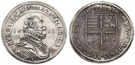 Austria 1 Thaler 1618 Hall Maximilian III (1602-1618) Averse: Large bust facing right; on the sides the date 16-18; an inscription around. Reverse: Co...