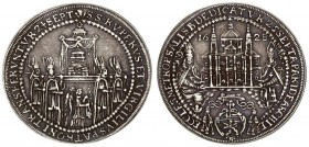 Austria Salzburg 1/2 Thaler 1628 Dedication of the Salzburger Dom. Dated 1628. Procession of relics of Sts. Rupert and Virgil / Salzburger Dom; Sts. R...
