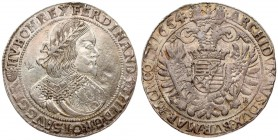 Austria Hungary 1 Thaler 1654 KB Kremnica Ferdinand III (1637-1657). Averse: Bust to the right; an inscription around. Reverse: Double-headed Eagle un...