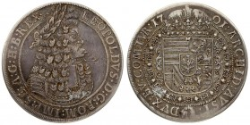 Austria 1 Thaler 1701 Hall. Leopold I(1657-1705). Averse: Old laureate bust right in inner circle. Averse Legend: LEOPOLDVS • D: G: ROM: IMP: SE: A: G...