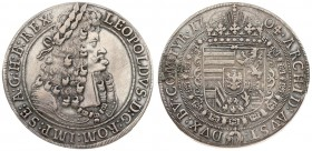 Austria 1 Thaler 1704 Hall. Leopold I(1657-1705). Averse: Old laureate bust right in inner circle. Averse Legend: LEOPOLDVS • D: G: ROM: IMP: SE: A: G...