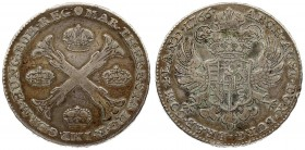 Austria Austrian Netherlands 1 Thaler 1766(b) Maria Theresia(1740-1780). Averse: 4 crowns in the angles of a floriated St. Andrew's cross. Averse Lege...