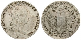 Austria 1 Thaler 1823 G Gunzburg. Franz II (1804-1835). Averse.: Laureate head right. Reverse: Crowned imperial double eagle facing with wings spread ...