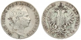 Austria 1 Thaler 1864 B Franz Joseph I(1848-1916). Averse: Laureate head right. Reverse: Crowned imperial double eagle. Silver. KM 2244