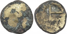 "CENTRAL EUROPE. Boii. Debased GOLD 1/8 Stater (2nd-1st centuries BC). ""Systemverwandte"" type."