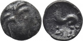 "EASTERN EUROPE. Imitations of Philip II of Macedon. Obol (2nd-1st centuries BC). ""Baumreiter"" type."