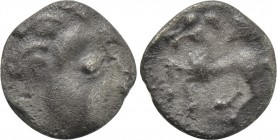 "EASTERN EUROPE. Imitations of Philip II of Macedon (2nd-1st centuries BC). ""Obol."" Mint in the region of Velem, Hungary. ""Kapostaler Kleingeld"" type."