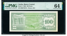 Aruba Banco Central 100 Florin 1986 Pick 5 PMG Choice Uncirculated 64.   HID09801242017  © 2020 Heritage Auctions | All Rights Reserved