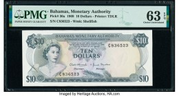 Bahamas Monetary Authority 10 Dollars 1968 Pick 30a PMG Choice Uncirculated 63 EPQ.   HID09801242017  © 2020 Heritage Auctions | All Rights Reserved
