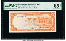 Bangladesh Bangladesh Bank 50 Taka ND (1976) Pick 17a PMG Gem Uncirculated 65 EPQ. Staple holes at issue.   HID09801242017  © 2020 Heritage Auctions |...