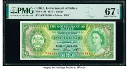 Belize Government of Belize 1 Dollar 1.6.1975 Pick 33b PMG Superb Gem Unc 67 EPQ.   HID09801242017  © 2020 Heritage Auctions | All Rights Reserved