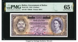 Belize Government of Belize 2 Dollars 1.1.1976 Pick 34c PMG Gem Uncirculated 65 EPQ.   HID09801242017  © 2020 Heritage Auctions | All Rights Reserved