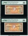Bermuda Bermuda Government 5 Shillings 1957 Pick 18b Two Consecutive Examples PMG Choice Uncirculated 64.   HID09801242017  © 2020 Heritage Auctions |...
