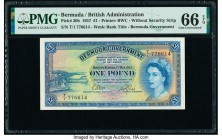 Bermuda Bermuda Government 1 Pound 1.5.1957 Pick 20b PMG Gem Uncirculated 66 EPQ.   HID09801242017  © 2020 Heritage Auctions | All Rights Reserved