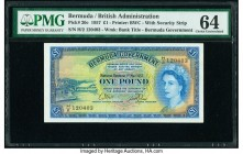 Bermuda Bermuda Government 1 Pound 1.5.1957 Pick 20c PMG Choice Uncirculated 64.   HID09801242017  © 2020 Heritage Auctions | All Rights Reserved