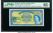 Bermuda Bermuda Government 1 Pound 1.10.1966 Pick 20d PMG Gem Uncirculated 65 EPQ.   HID09801242017  © 2020 Heritage Auctions | All Rights Reserved