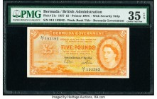 Bermuda Bermuda Government 5 Pounds 1.5.1957 Pick 21c PMG Choice Very Fine 35 EPQ.   HID09801242017  © 2020 Heritage Auctions | All Rights Reserved