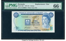 Bermuda Monetary Authority 1 Dollar 1.12.1976 Pick 28a* Replacement PMG Gem Uncirculated 66 EPQ.   HID09801242017  © 2020 Heritage Auctions | All Righ...