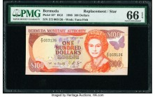 Bermuda Monetary Authority 100 Dollars 14.2.1996 Pick 45* RG5 Replacement PMG Gem Uncirculated 66 EPQ.   HID09801242017  © 2020 Heritage Auctions | Al...