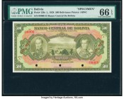 Bolivia Banco Central 500 Bolivianos 20.7.1928 Pick 126s Specimen PMG Gem Uncirculated 66 EPQ.   HID09801242017  © 2020 Heritage Auctions | All Rights...