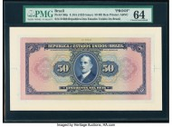 Brazil Thesouro Nacional 50 Mil Reis ND (1925) Pick 58fp Front Proof PMG Choice Uncirculated 64.   HID09801242017  © 2020 Heritage Auctions | All Righ...