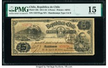 Chile Republica de Chile 5 Pesos 21.8.1914 Pick 19b PMG Choice Fine 15.   HID09801242017  © 2020 Heritage Auctions | All Rights Reserved