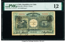 Chile Republica de Chile 5 Pesos 31.3.1920 Pick 60 PMG Fine 12. Internal Splits.   HID09801242017  © 2020 Heritage Auctions | All Rights Reserved