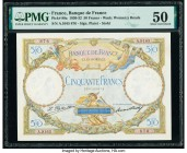 France Banque de France 50 Francs 15.10.1931 Pick 80a PMG About Uncirculated 50. Pinholes.  HID09801242017  © 2020 Heritage Auctions | All Rights Rese...