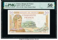France Banque de France 50 Francs 21.2.1935 Pick 81 PMG About Uncirculated 50.   HID09801242017  © 2020 Heritage Auctions | All Rights Reserved