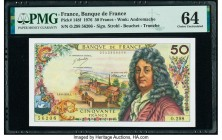 France Banque de France 50 Francs 3.6.1976 Pick 148f PMG Choice Uncirculated 64.   HID09801242017  © 2020 Heritage Auctions | All Rights Reserved