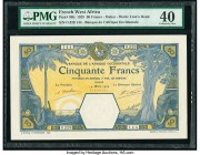 French West Africa Banque de l'Afrique Occidentale 50 Francs 14.3.1929 Pick 9Bc PMG Extremely Fine 40.   HID09801242017  © 2020 Heritage Auctions | Al...