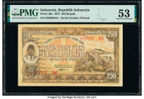 Indonesia Republik Indonesia 250 Rupiah 26.7.1947 Pick 30a PMG About Uncirculated 53.   HID09801242017  © 2020 Heritage Auctions | All Rights Reserved...