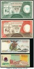Indonesia Group Lot of 4 Examples Majority Crisp Uncirculated. (1) 1964 10,000 rupiah is graded Extremely Fine.  HID09801242017  © 2020 Heritage Aucti...