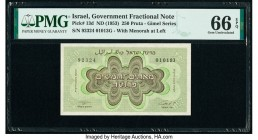 Israel Israel Government 250 Pruta ND (1953) Pick 13d PMG Gem Uncirculated 66 EPQ.   HID09801242017  © 2020 Heritage Auctions | All Rights Reserved