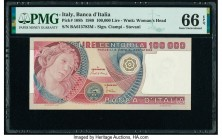 Italy Banco d'Italia 100,000 Lire 1.7.1980 Pick 108b PMG Gem Uncirculated 66 EPQ.   HID09801242017  © 2020 Heritage Auctions | All Rights Reserved