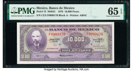 Mexico Banco de Mexico 10,000 Pesos 18.1.1978 Pick 72 PMG Gem Uncirculated 65 EPQ.   HID09801242017  © 2020 Heritage Auctions | All Rights Reserved