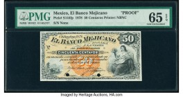 Mexico Banco Mejicano 50 Centavos 1878 Pick S144fp Front Proof PMG Gem Uncirculated 65 EPQ. Two POCs.  HID09801242017  © 2020 Heritage Auctions | All ...