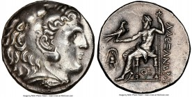 MACEDONIAN KINGDOM. Alexander III the Great (336-323 BC). AR tetradrachm (26mm, 17.10 gm, 2h). NGC Choice AU 5/5 - 2/5, brushed. Posthumous issue of P...